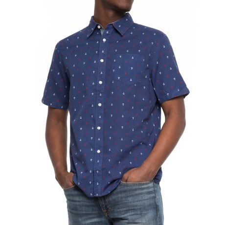 JACHS NY Poplin Printed Shirt - Short Sleeve (For Men)
