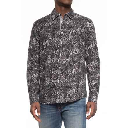 JACHS NY Printed Poplin Shirt - Long Sleeve (For Men) in Black/Daisy - Overstock