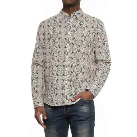 JACHS NY Printed Poplin Shirt - Long Sleeve (For Men) in Black/Multi - Overstock
