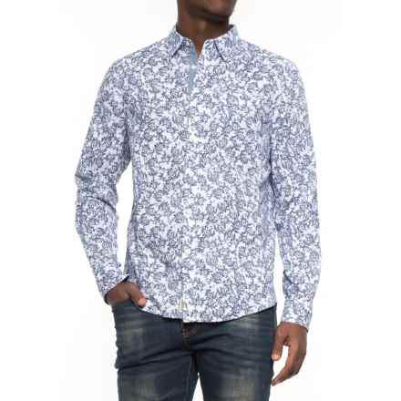 JACHS NY Printed Poplin Shirt - Long Sleeve (For Men) in White/Floral - Overstock