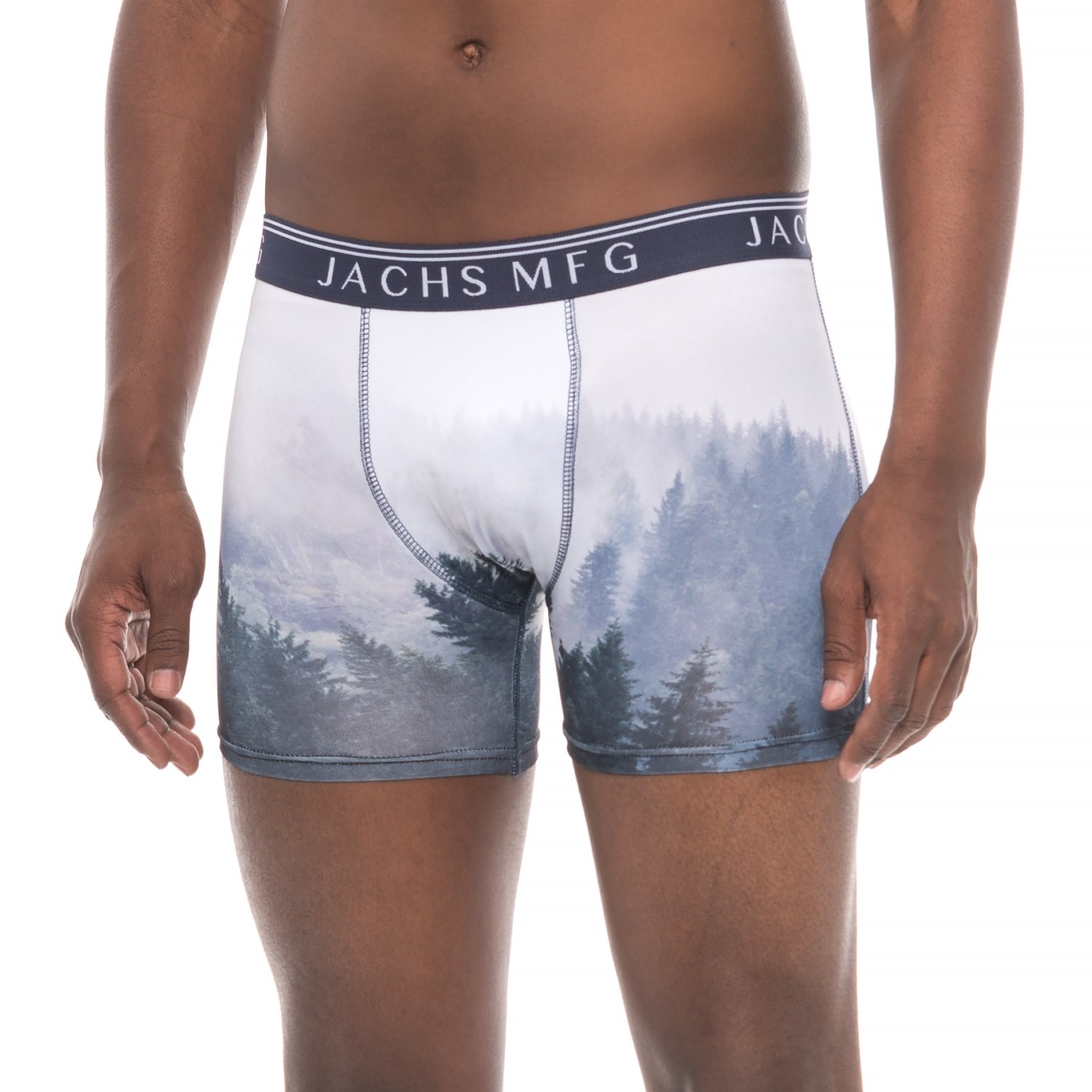 JACHS NY Printed Stretch Boxer Briefs (For Men)