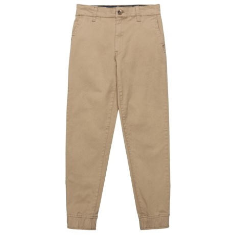 JACHS NY Twill Joggers (For Big Boys) in Desert Sand
