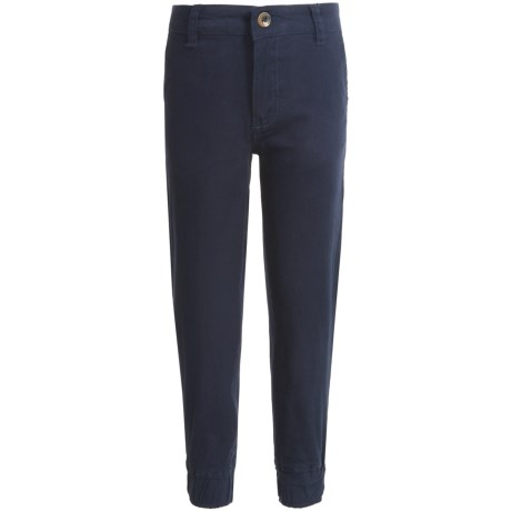 JACHS NY Twill Joggers (For Little Boys) in Navy
