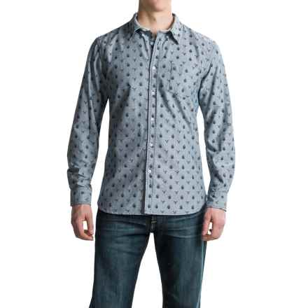 J.A.C.H.S. One-Pocket Printed Shirt - Long Sleeve (For Men) in Navy - Closeouts