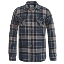 J.A.C.H.S. Plaid Flannel Shirt - Long Sleeve (For Big Girls) in Blue/Black - Closeouts