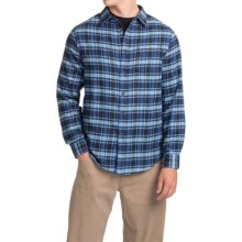 J.A.C.H.S. Plaid Flannel Shirt - Long Sleeve (For Men) in Blue/Black Windowpane Check - Closeouts