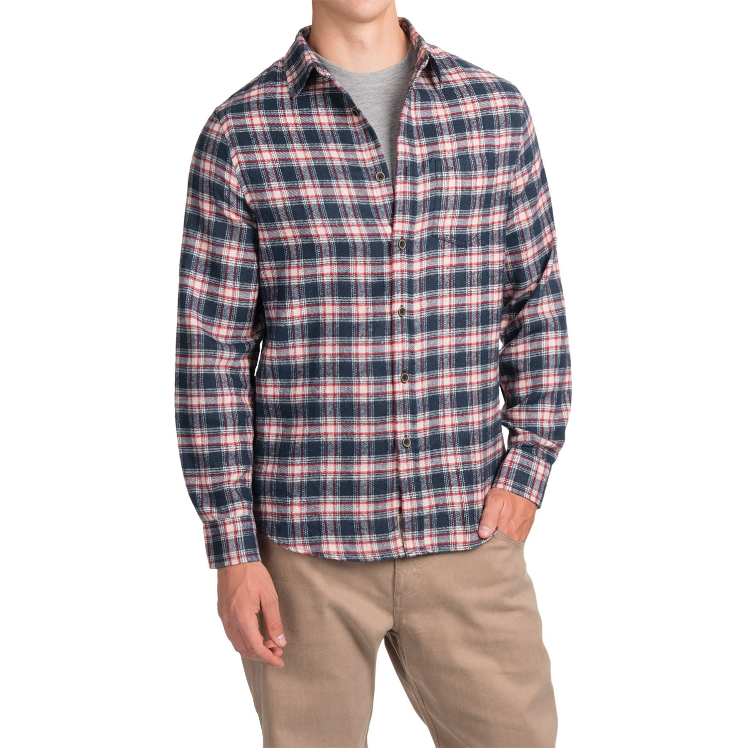 J a c h s plaid flannel shirt for men save 79 for Flannel checked long sleeve shirt