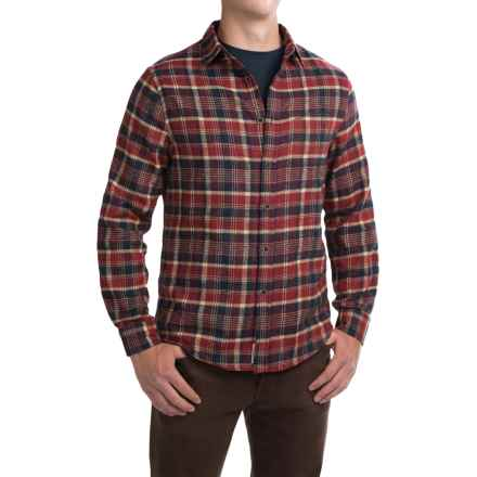 J.A.C.H.S. Plaid Flannel Shirt - Long Sleeve (For Men) in Navy/Red Check - Closeouts
