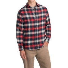 J.A.C.H.S. Plaid Flannel Shirt - Long Sleeve (For Men) in Red/Black/White Large Check - Closeouts