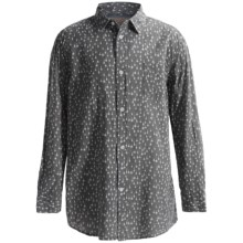 J.A.C.H.S. Printed Button-Front Shirt - Long Sleeve (For Boys) in Grey - Closeouts