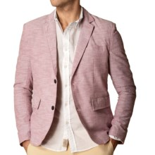J.A.C.H.S. Two-Button Chambray Blazer (For Men) in Russet Brown - Closeouts