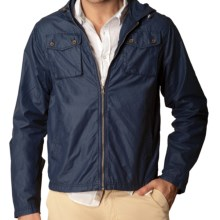 J.A.C.H.S. Waxed Hooded Utility Jacket (For Men) in Navy - Closeouts