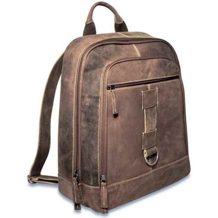 Jack Georges Arizona Buffalo Leather Backpack in Brown - Overstock
