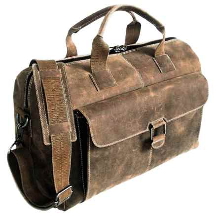Jack Georges Arizona Buffalo Leather Overnighter or Day Bag in Brown - Overstock