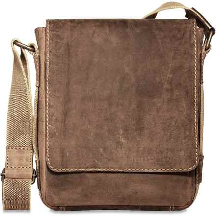 Jack Georges Arizona Crossbody Messenger Bag - Buffalo Leather in Brown - Overstock