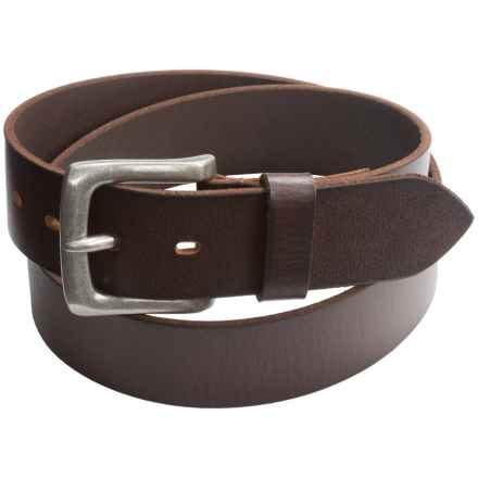 """Jack Georges Buffalo Leather Belt - 1-1/2"""" (For Men) in Brown - Overstock"""