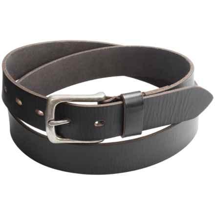 "Jack Georges Buffalo Leather Belt - 1-1/4"" (For Men) in Black - Overstock"