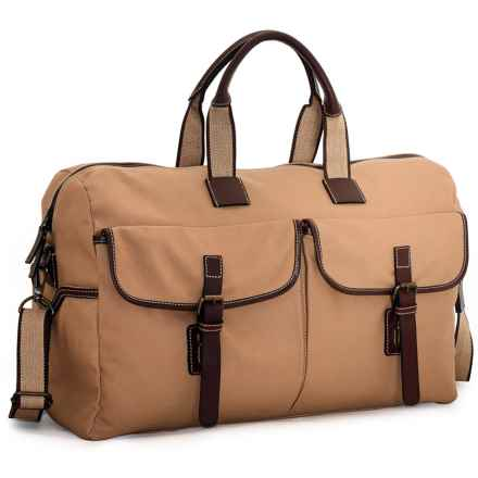"Jack Georges Canvas Travel Duffel Bag - 22"" in Khaki - Overstock"