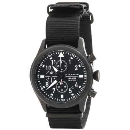 Jack Mason Aviator Chronograph Watch with Nylon Band - 42mm in Black/Black - Closeouts