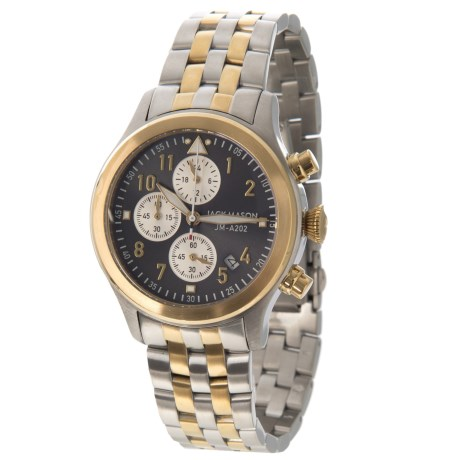 Jack Mason Aviator Chronograph Watch with Stainless Steel Band - 36mm in Grey/Grey