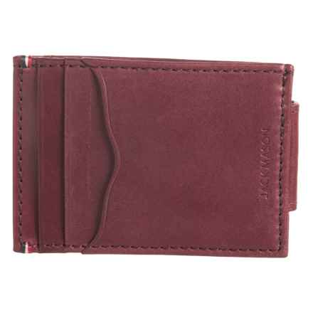 Jack Mason Core Collection Wallet with Money Clip - Leather, RFID (For Men) in Oxblood - Closeouts