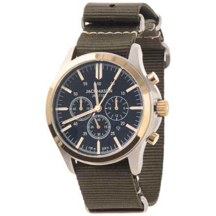 Jack Mason Field Collection Chronograph Watch - Nylon Strap in Black/Green - Closeouts