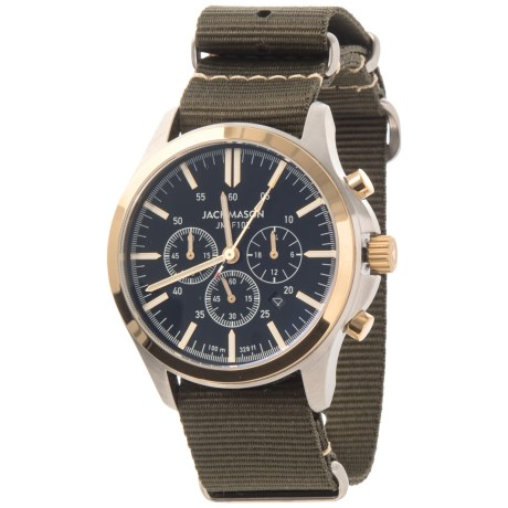 Jack Mason Field Collection Chronograph Watch - Nylon Strap in Black/Green
