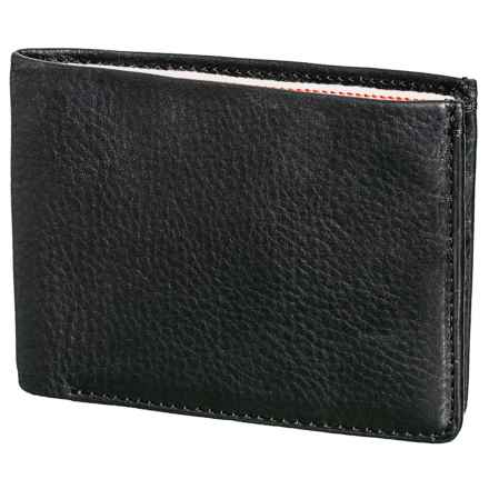 Jack Mason Selvedge Leather Bifold Wallet (For Men) in Black/Denim - Closeouts
