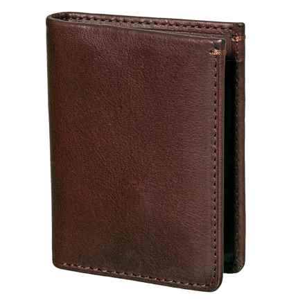Jack Mason Selvedge Leather Bifold Wallet (For Men) in Denim - Closeouts