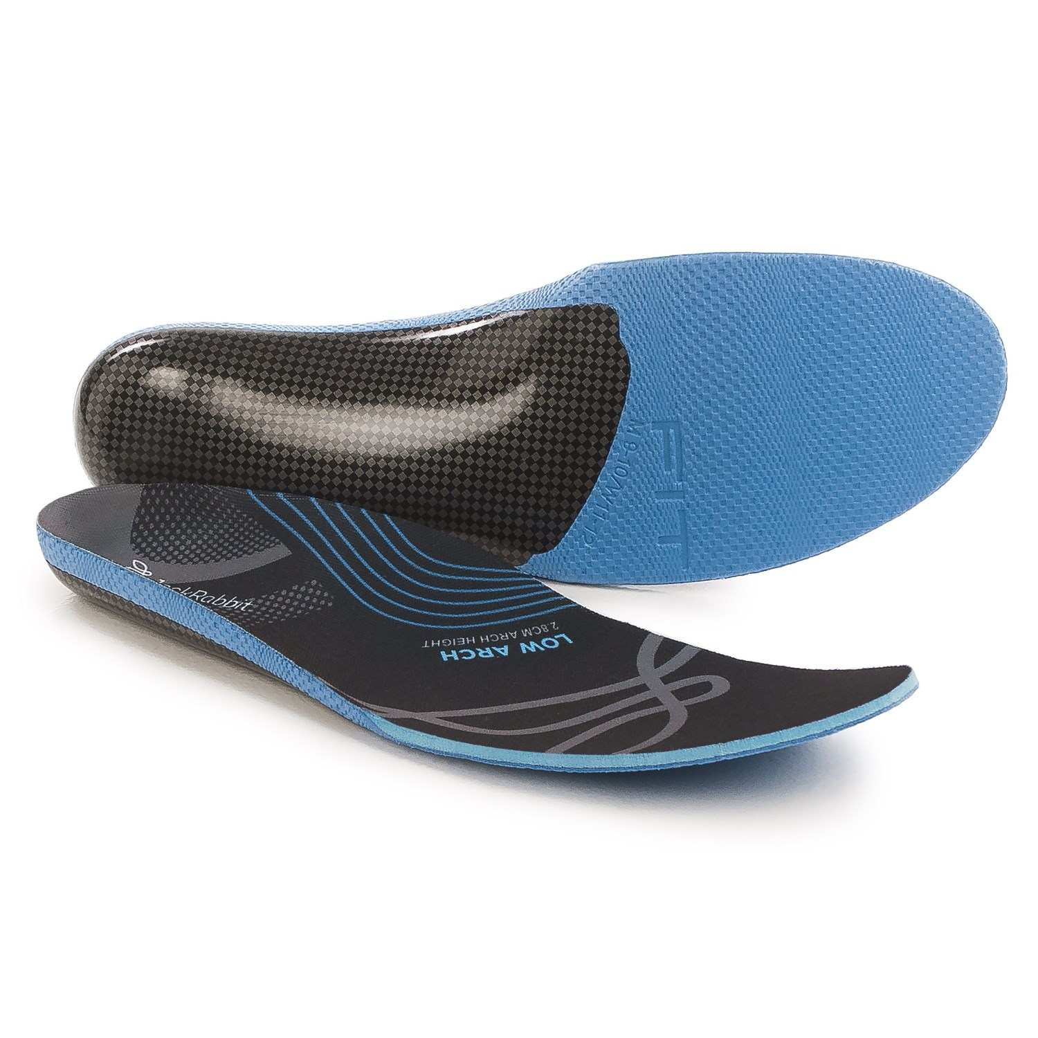 Jack Rabbit Low Arch Insoles - 2.8cm Arch Height (For Men and Women ...