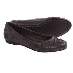 Jack Rogers Rogers Slim Flats - Leather (For Women) in Cognac