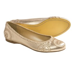 Jack Rogers Rogers Slim Flats - Leather (For Women) in Platinum