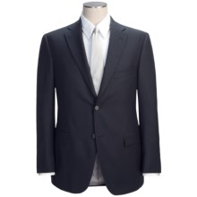 Jack Victor Beaded Alternating Stripe Suit - Wool (For Men) in Navy - Closeouts