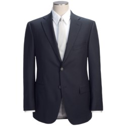 Jack Victor Beaded Alternating Stripe Suit - Wool (For Men) in Navy