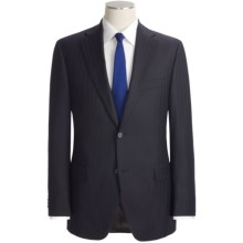 Jack Victor Beaded Shadow Stripe Suit - Loro Piana Wool (For Men) in Navy - Closeouts