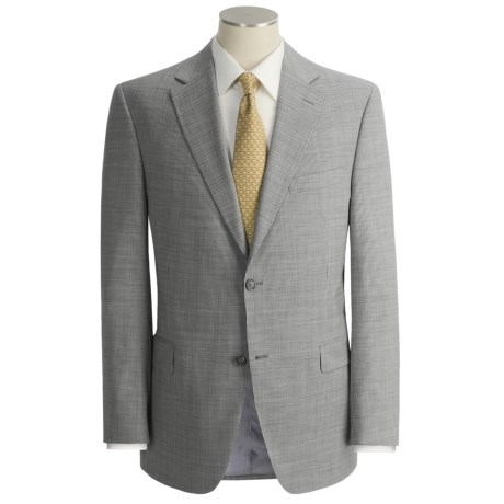 Jack Victor Beaded Slim Jim Stripe Suit - Wool (For Men) in Black/White