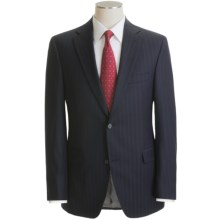 Jack Victor Beaded Tonal Stripe Suit - Wool (For Men) in Navy - Closeouts