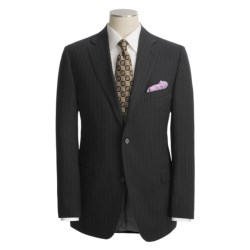 Jack Victor Black Stripe Suit - Wool (For Men) in Black