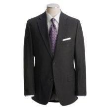 Jack Victor Black Track Stripe Suit - Wool (For Men) in Black - Closeouts