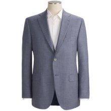 Jack Victor Check Sport Coat - Wool-Silk  (For Men) in Blue/Tan - Closeouts