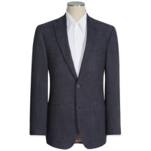 Jack Victor Conway Wool Sport Coat -  Wool Grid Check (For Men) in Navy - Closeouts