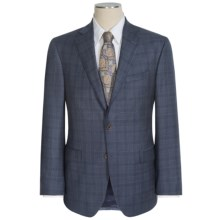 Jack Victor Gibson Plaid Suit - Loro Piana Wool (For Men) in Medium Blue - Closeouts