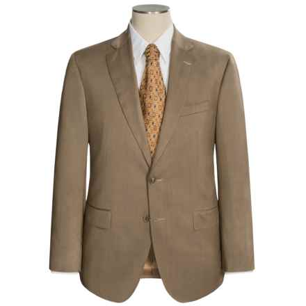 Jack Victor Gibson Tic Weave Suit - Wool (For Men) in Dark Sand - Closeouts