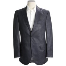 Jack Victor Grained Synthetic Leather Sport Coat (For Men) in Black - Closeouts