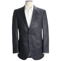 Jack Victor Grained Synthetic Leather Sport Coat (For Men) in Black