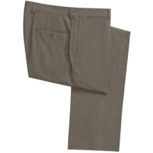 Jack Victor Harper Wool Pindot Pants - Flat Front (For Men) in Brown - Closeouts