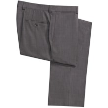 Jack Victor Harper Wool Pindot Pants - Flat Front (For Men) in Grey - Closeouts