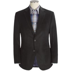 Jack Victor Herringbone Stripe Sport Coat - Velvet (For Men) in Black