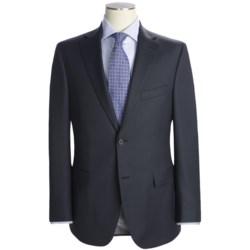 Jack Victor Herringbone Stripe Suit - Loro Piana Wool (For Men) in Charcoal