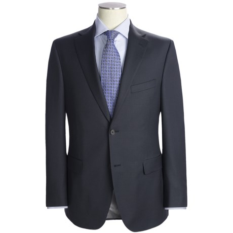 Jack Victor Herringbone Stripe Suit - Loro Piana Wool (For Men) in Charcoal